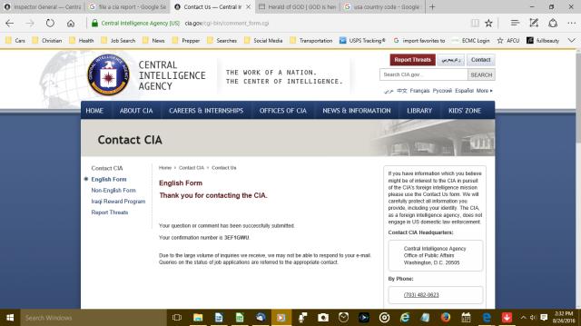 CIA Report Screenshot 082416
