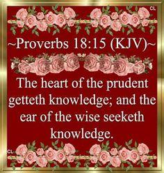 Proverbs 18:15 (KJV)
